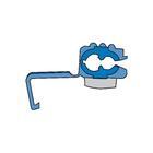 Carpoint Kabelverbinders 1560 blauw blister 5st 24027