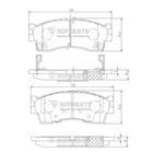 Nipparts Remblokset J3600308
