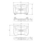 Nipparts Remblokset J3603036