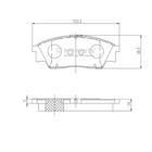 Nipparts Remblokset J3607004
