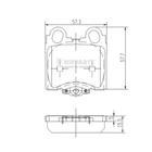 Nipparts Remblokset J3612017