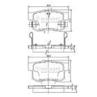 Nipparts Remblokset J3614008