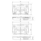 Nipparts Remblokset N3612041