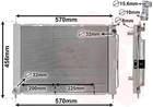 Koelmodule (radiateur+condensor) / Radiateur Van Wezel 4300m499
