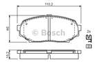 Bosch Remblokset 0 986 424 303