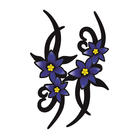 Mijnautoonderdelen Sticker Set Violet Tribal Flowers 2 AV 125030