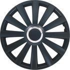 "Mijnautoonderdelen Wieldop Set Spyder 14"" Black + Chro PP 5084B"
