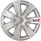 Mijnautoonderdelen Wieldop Set VR 14'' Silver/Carbon-L PP 5154