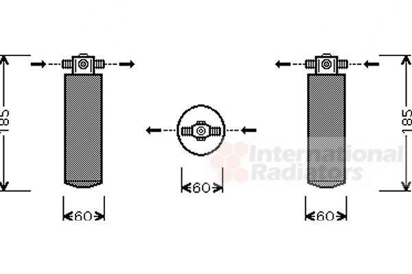 Van Wezel Airco droger/filter 3700D393