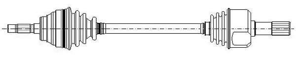 Metelli Aandrijfas 17-0435