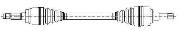 Metelli Aandrijfas 17-0276