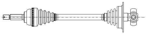 Metelli Aandrijfas 17-0231