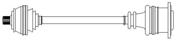Metelli Aandrijfas 17-1089