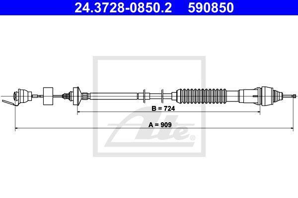 Ate Koppelingskabel 24.3728-0850.2