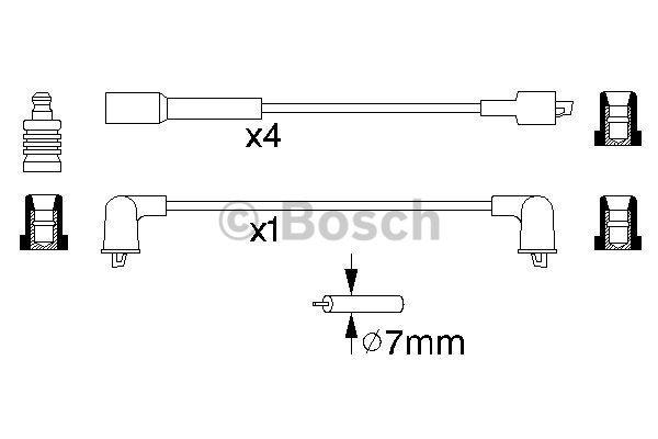 Bosch Bougiekabelset 0 986 356 941