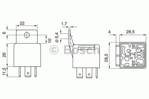 Relais-Bosch 0 332 019 103