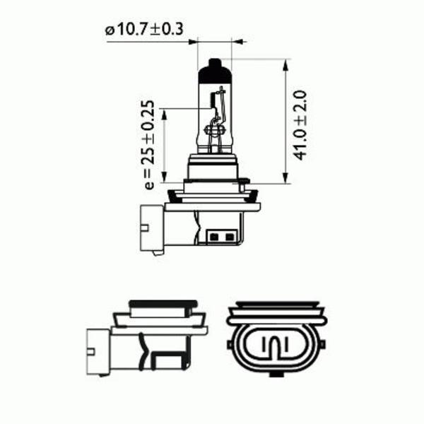 Philips Gloeilamp bochtcorrectieschijnwerper / Gloeilamp grootlicht / Gloeilamp koplamp / Gloeilamp mistlicht 12362LLECOC1