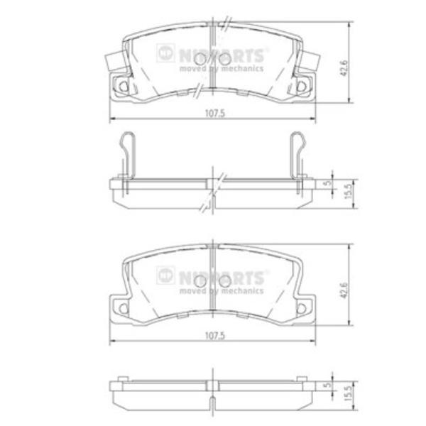 Nipparts Remblokset J3612013