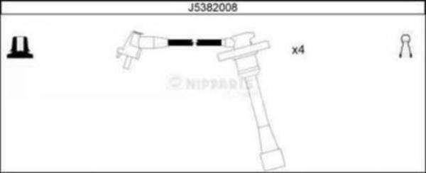 Nipparts Bougiekabelset J5382008