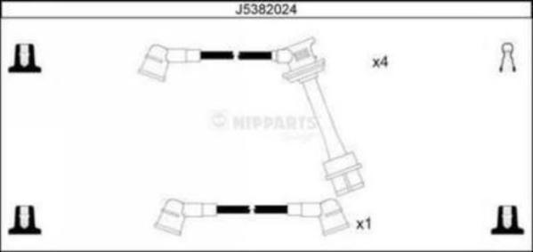 Nipparts Bougiekabelset J5382024
