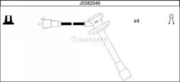 Nipparts Bougiekabelset J5382046