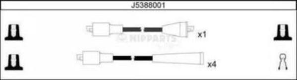 Nipparts Bougiekabelset J5388001