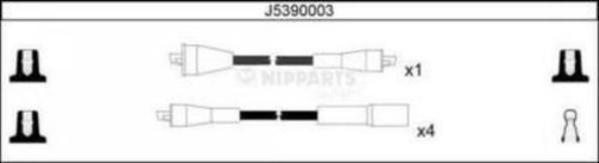 Nipparts Bougiekabelset J5390003