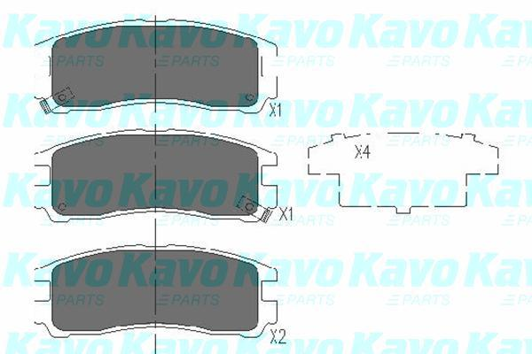 Kavo Parts - KbpRembloksetKBP-5509
