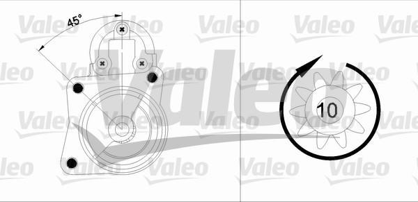 Valeo Starter 455904