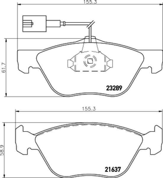 Mintex Remblokset MDB2068