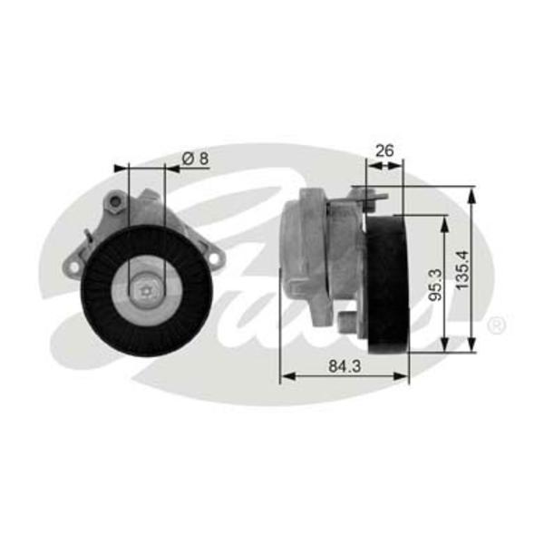 Gates Spanrol (poly) V-riem T38174