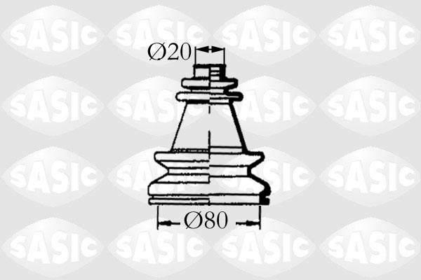 Sasic Aandrijfashoes 4003454