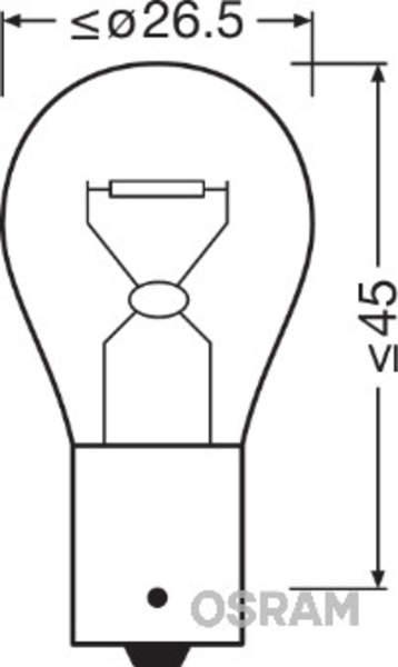 Osram Gloeilamp achterlicht / Gloeilamp achteruitrijlicht / Gloeilamp daglicht / Gloeilamp derde remlicht / Gloeilamp interieurverlichting / Gloeilamp kentekenverlichting / Gloeilamp knipperlicht / Gloeilamp koplamp / Gloeilamp mist-/ achterlicht 7506ULT-02B
