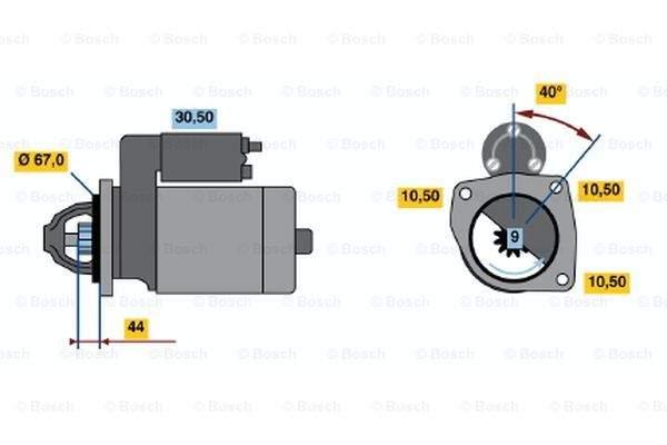 Bosch Starter 0 986 019 030