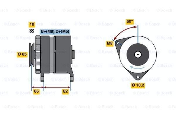 Bosch Alternator/Dynamo 0 986 036 660