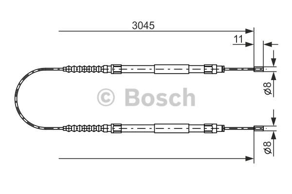 Bosch Handremkabel 1 987 477 115