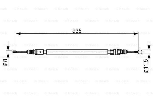 Bosch Handremkabel 1 987 482 430
