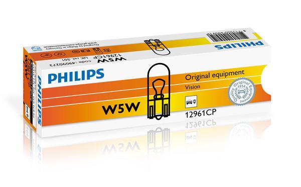 Philips Gloeilamp achterlicht / Gloeilamp derde remlicht / Gloeilamp deurlicht / Gloeilamp instaplicht / Gloeilamp interieurverlichting / Gloeilamp kentekenverlichting / Gloeilamp knipperlicht / Gloeilamp kofferruimteverlichting / Gloeilamp leeslamp 12961CP