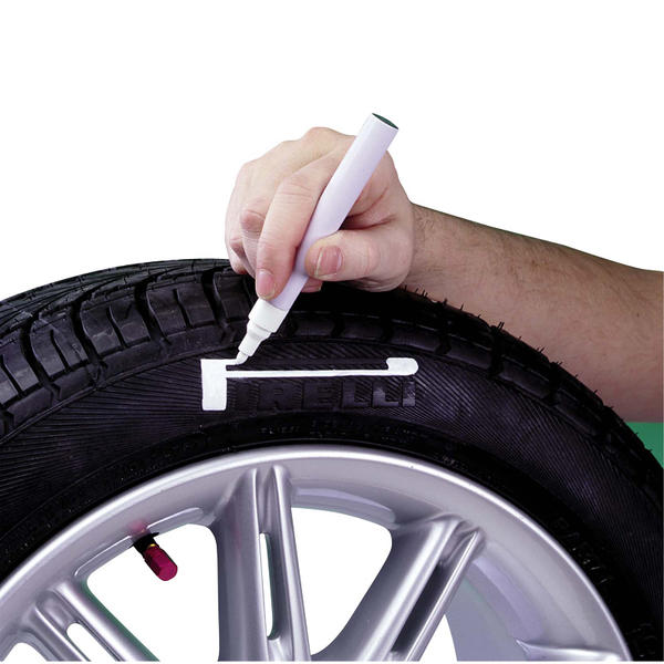Mijnautoonderdelen Bandenstift/White Pen Tyre Marker-H CM C444